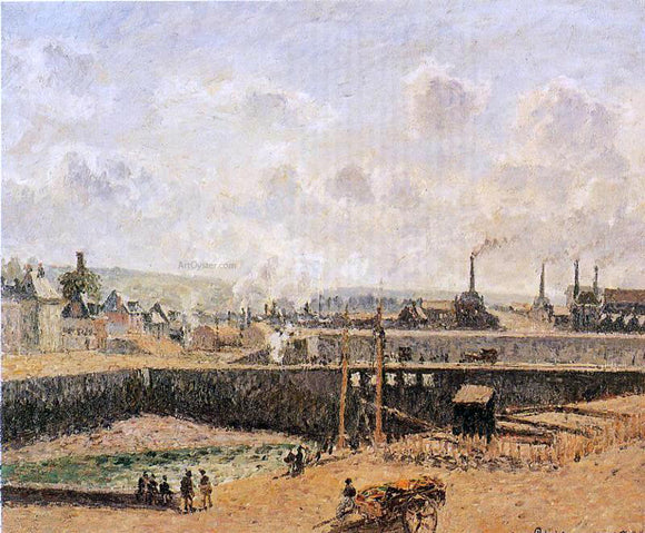 Camille Pissarro Dieppe, Dunquesne Basin, Low Tide, Sun, Morning - Canvas Art Print