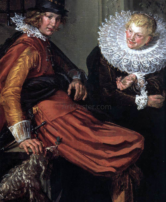 Willem Pietersz Buytewech Dignified Couples Courting (detail) - Canvas Art Print