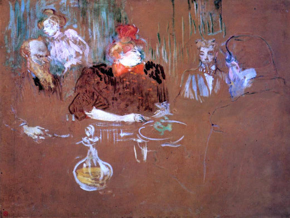 Henri De Toulouse-Lautrec Dinner at the House of M. and Mme. Nathanson - Canvas Art Print