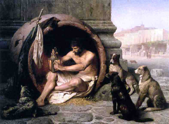 Jean-Leon Gerome Diogenes - Canvas Art Print