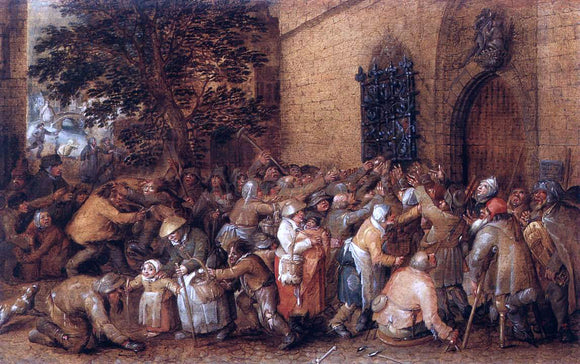 David Vinckboons Distribution of Loaves to the Poor - Canvas Art Print
