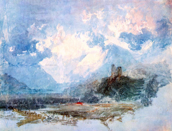 Joseph William Turner Dolbadern Castle - Canvas Art Print