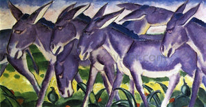 Franz Marc Donkey Frieze - Canvas Art Print