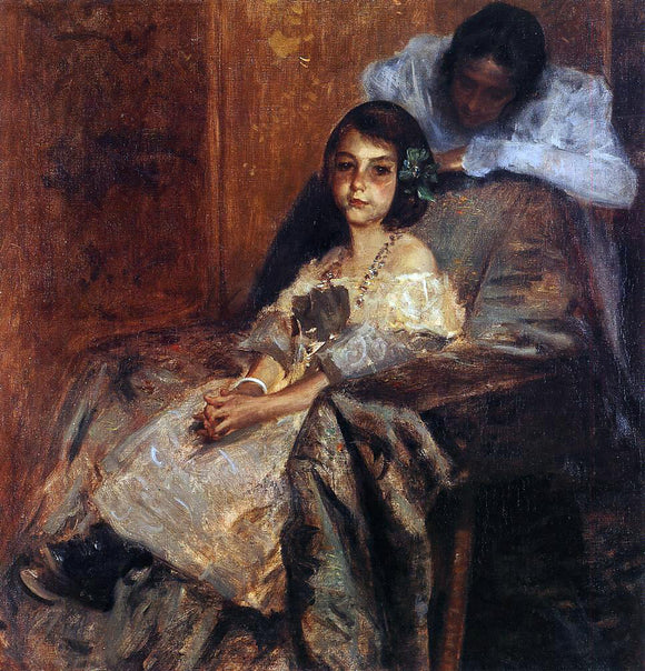 William Merritt Chase Dorothy and Her Sister - Canvas Art Print