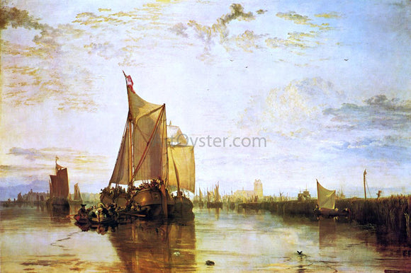Joseph William Turner Dort, the Dort Packet-Boat from Rotterdam Bacalmed - Canvas Art Print