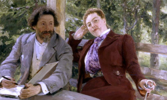 Ilia Efimovich Repin Double Portrait of Natalia Nordmann and Ilya Repin - Canvas Art Print