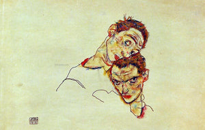 Egon Schiele Double Self Portrait - Canvas Art Print