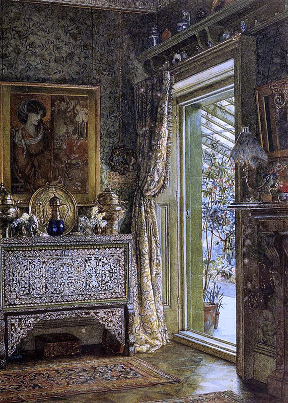 Sir Lawrence Alma-Tadema Drawing Room, Holland Park - Canvas Art Print