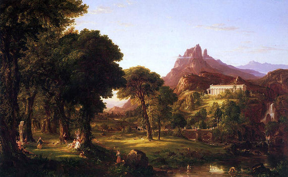 Thomas Cole Dream of Arcadia - Canvas Art Print