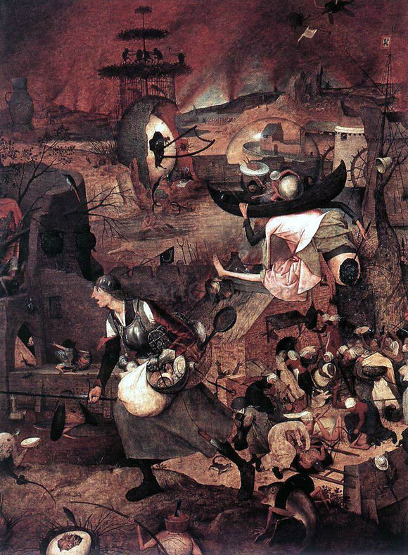 The Elder Pieter Bruegel Dulle Griet (detail) - Canvas Art Print