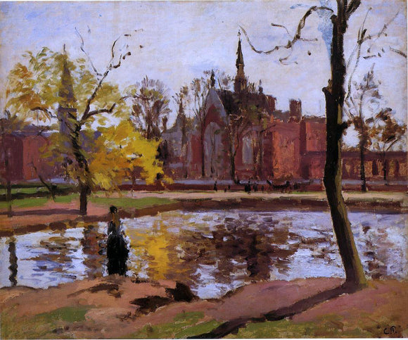 Camille Pissarro Dulwich College, London - Canvas Art Print