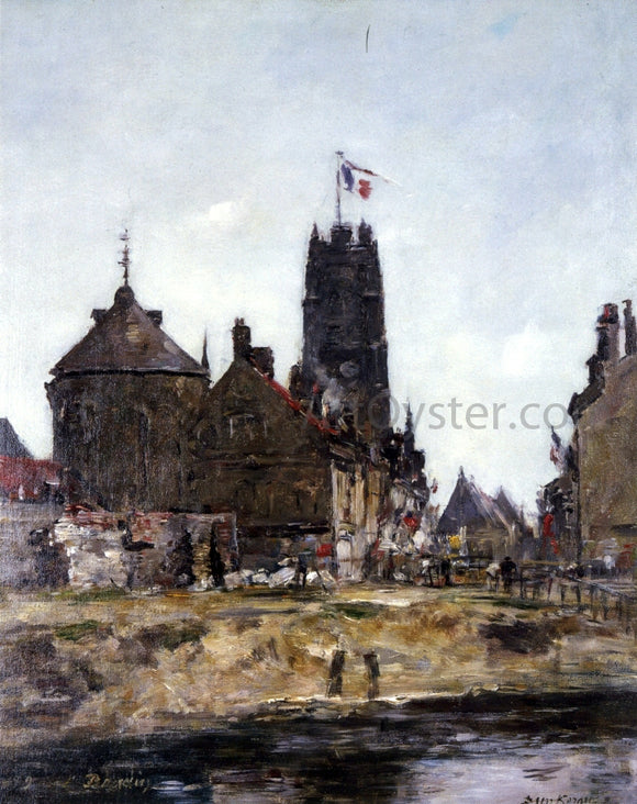 Eugene-Louis Boudin Dunkirk, Festival Day - Canvas Art Print