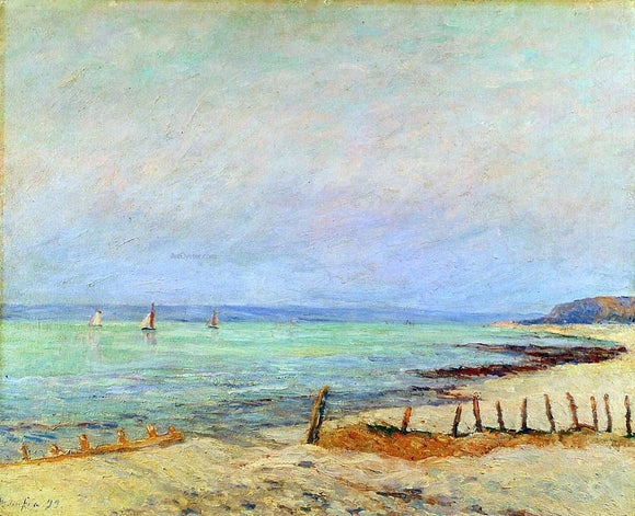Maxime Maufra Dusk, the Mouth of the Seine - Canvas Art Print