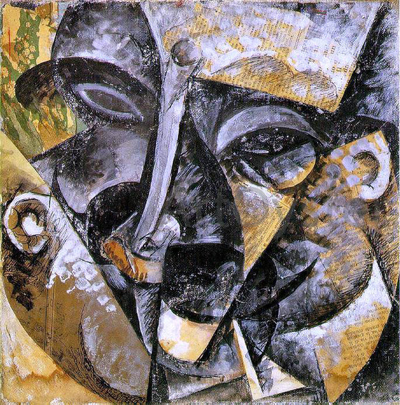 Umberto Boccioni Dynamism of a Man's Head - Canvas Art Print