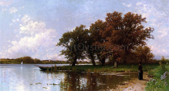 Alfred Thompson Bricher Early Autumn on Long Island - Canvas Art Print