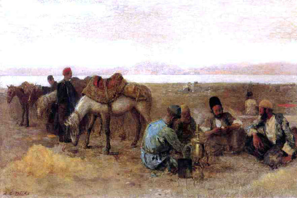 Edwin Lord Weeks Early Morning by Lake Urumiyah, Persia - Canvas Art Print