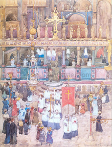 Maurice Prendergast Easter Procession, St. Mark's - Canvas Art Print