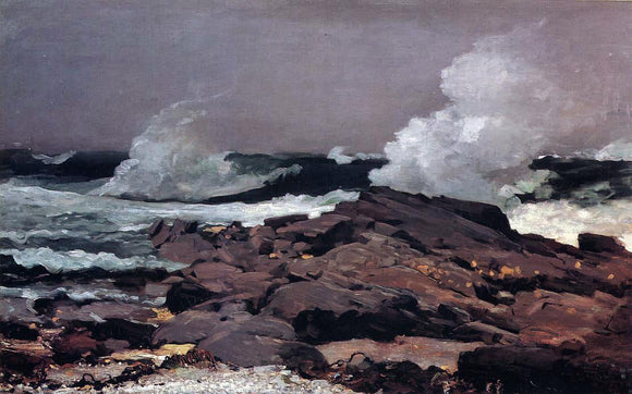 Winslow Homer Eastern Point, Prout's Neck - Canvas Art Print