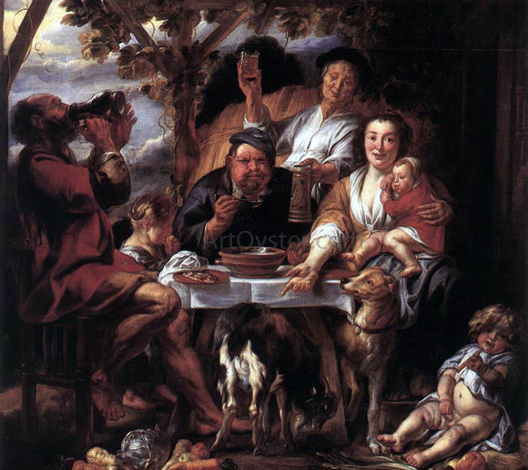Jacob Jordaens Eating Man - Canvas Art Print