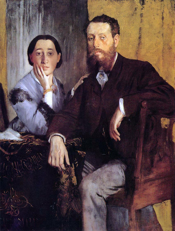 Edgar Degas Edmond and Therese Morbilli - Canvas Art Print