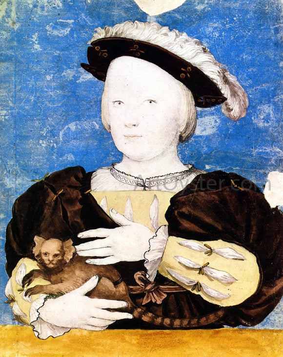 The Younger Hans Holbein Edward, Prince of Wales, with Monkey - Canvas Art Print