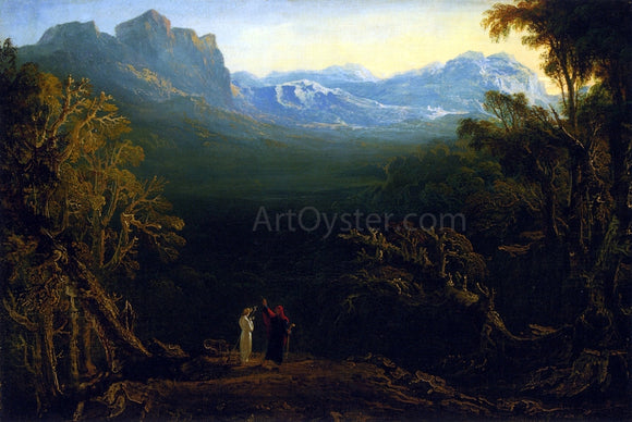 John Martin Edwin and Angelina (also known as The Hermit) - Canvas Art Print
