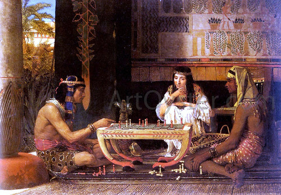 Sir Lawrence Alma-Tadema Egyptian Chess Players - Canvas Art Print