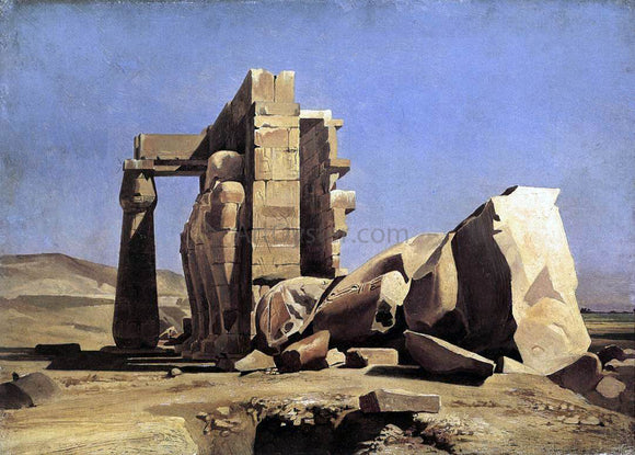 Marc-Charles-Gabriel Gleyre Egyptian Temple - Canvas Art Print