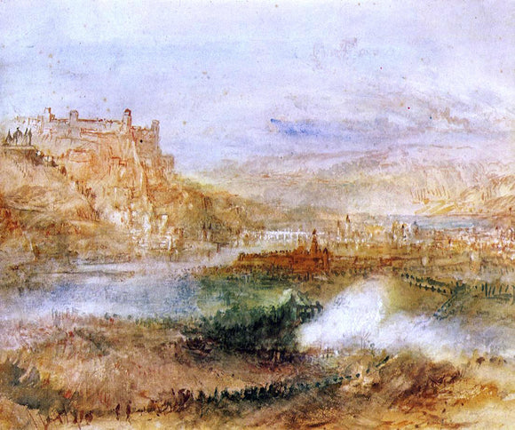 Joseph William Turner Ehrenbrietstein and Coblenz - Canvas Art Print