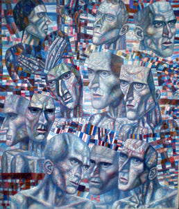 Pavel Filonov Eleven Heads - Canvas Art Print