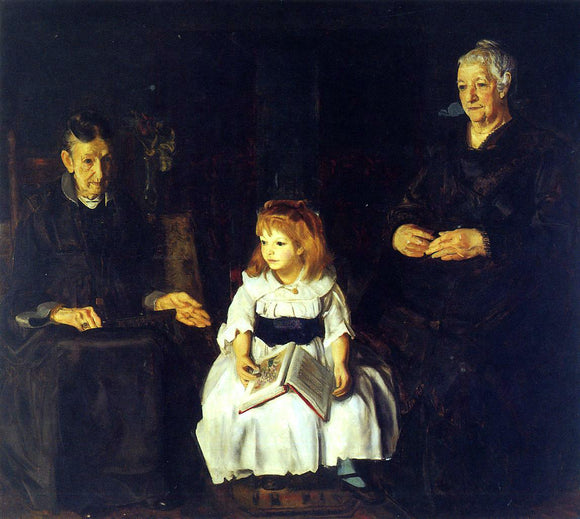 George Wesley Bellows Elinor, Jean and Anna - Canvas Art Print