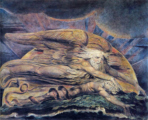 William Blake Elohim Creating Adam - Canvas Art Print