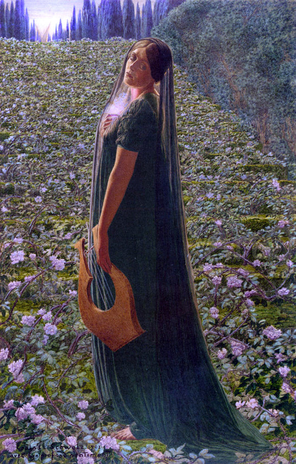 Carlos Schwabe Elysian Fields - Canvas Art Print