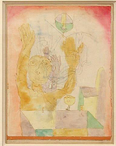 Paul Klee Enlightenment of Two Sectie - Canvas Art Print