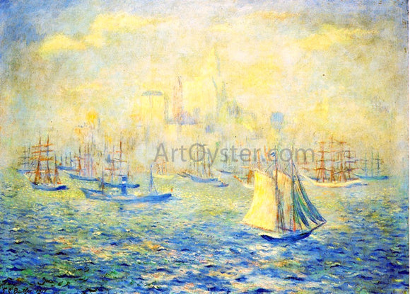 Theodore Earl Butler Entering New York Harbor - Canvas Art Print
