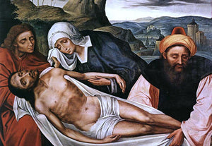 Quentin Massys Entombment - Canvas Art Print