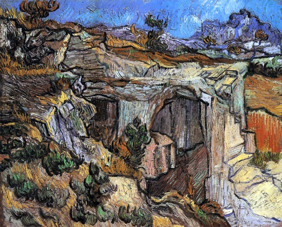 Vincent Van Gogh Entrance to a Quarry near Saint-Remy - Canvas Art Print