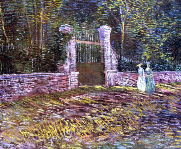 Vincent Van Gogh Entrance to the Park at Voyer-d'Argenson in Asnieres - Canvas Art Print