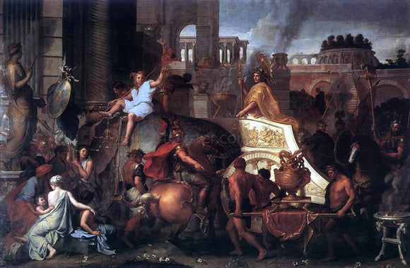 Charles Le Brun Entry of Alexander into Babylon - Canvas Art Print