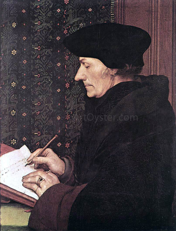 The Younger Hans Holbein Erasmus - Canvas Art Print