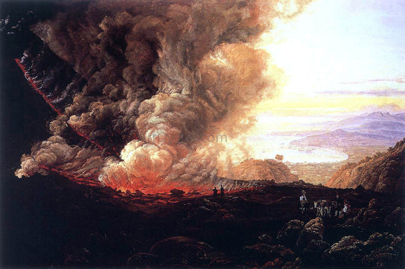 Johan Christian Claussen Dahl Eruption of the Vesuvius - Canvas Art Print