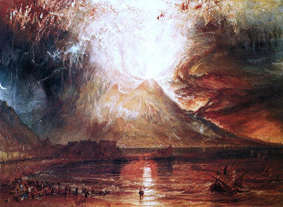 Joseph William Turner Eruption of Vesuvius - Canvas Art Print
