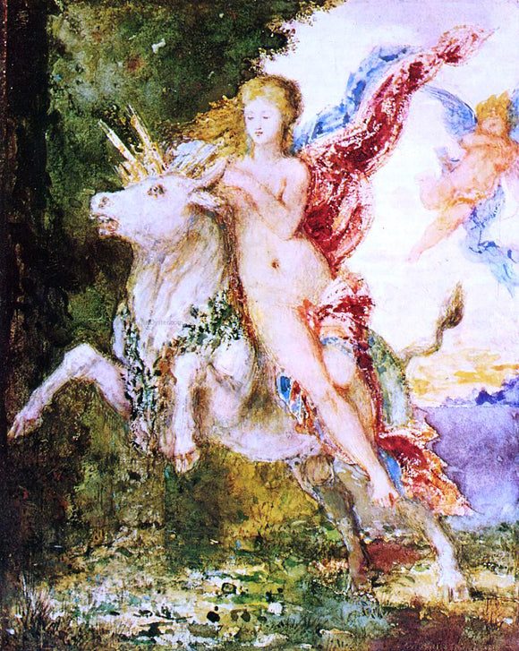 Gustave Moreau Europa and the Bull - Canvas Art Print