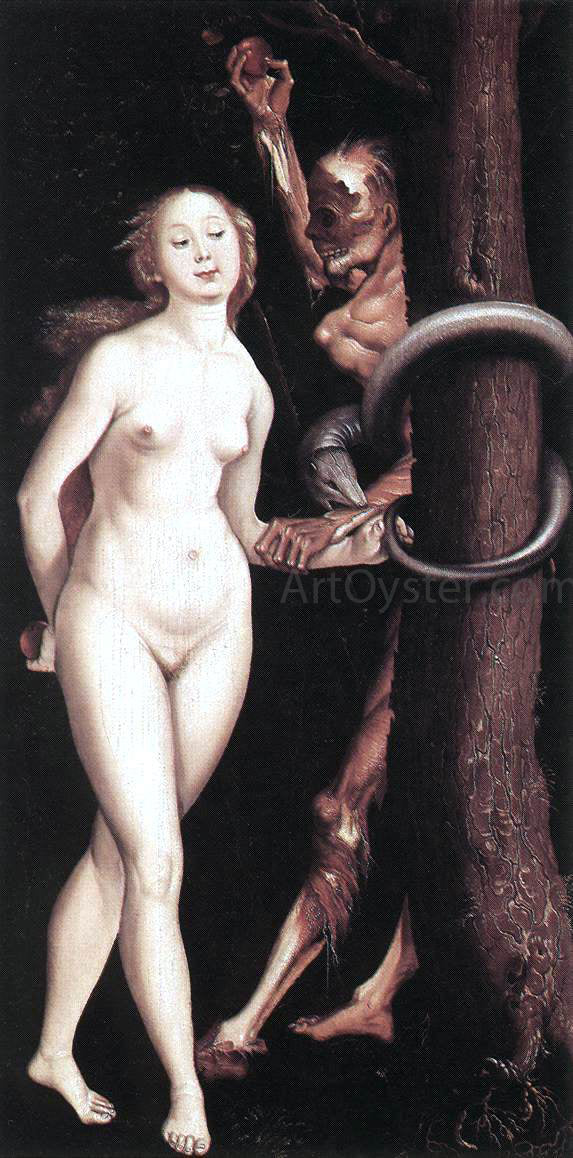 Hans Baldung Eve, the Serpent, and Death - Canvas Art Print