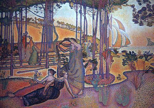 Henri Edmond Cross Evening Breeze - Canvas Art Print