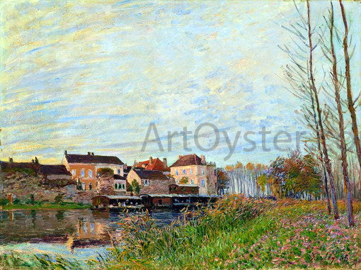 Alfred Sisley Evening in Moret, End of October - Canvas Art Print