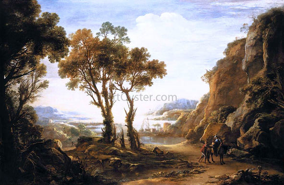 Salvator Rosa Evening Landscape - Canvas Art Print