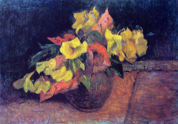 Paul Gauguin Evening Primroses in a Vase - Canvas Art Print