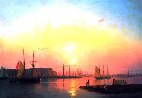 Ivan Constantinovich Aivazovsky Exchange of Peterburg - Canvas Art Print