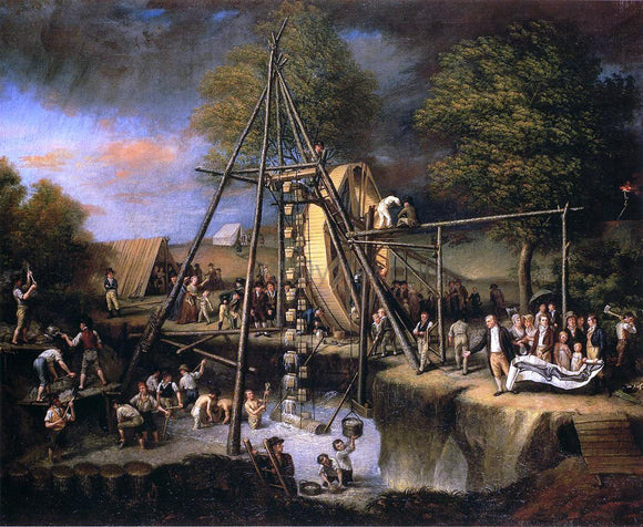 Charles Willson Peale Exhumation of the Mastadon - Canvas Art Print